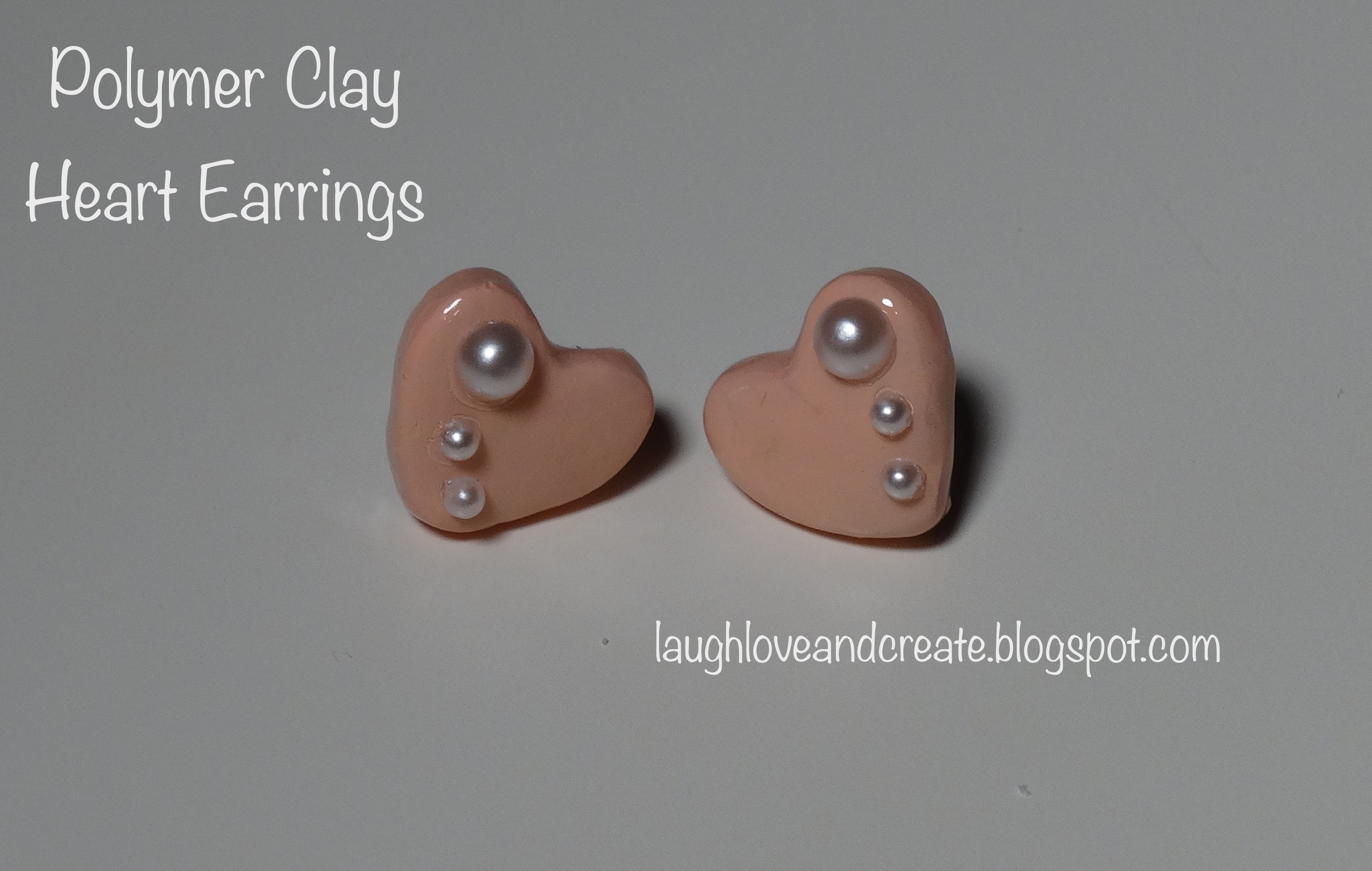 DIY | Polymer Clay Heart Earrings :: Gifts for Her