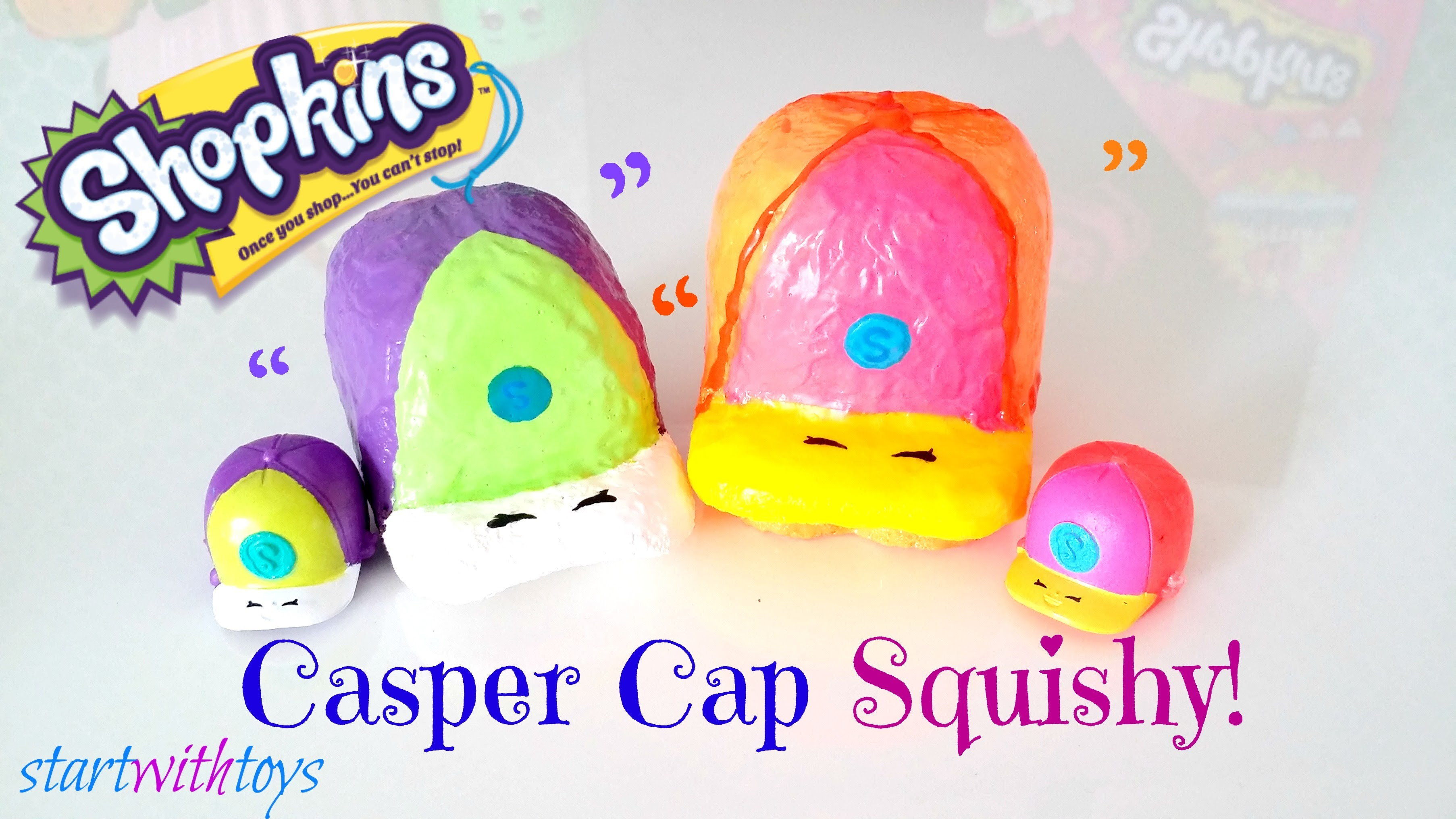 DIY Shopkins Squishy - Casper Cap
