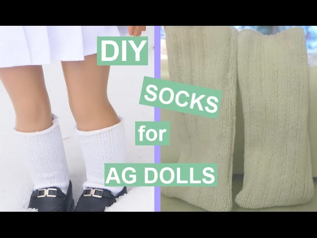DIY Socks for American Girl and 18inch Dolls