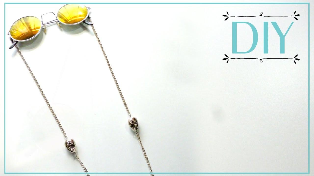 DIY - Sunglass chain strap with skulls