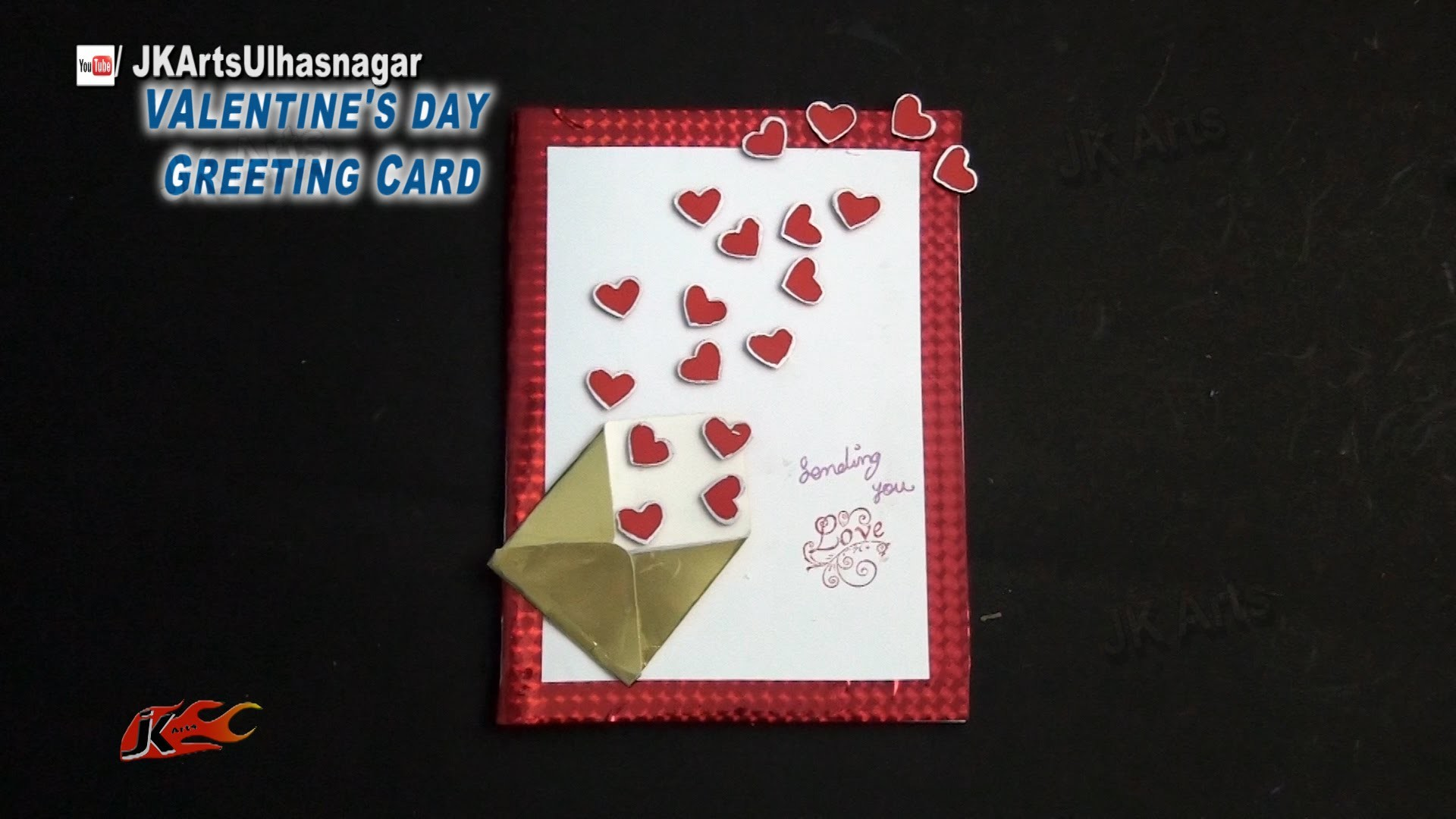 DIY Valentine's Day Heart Greeting Card | How to make | JK Arts  855