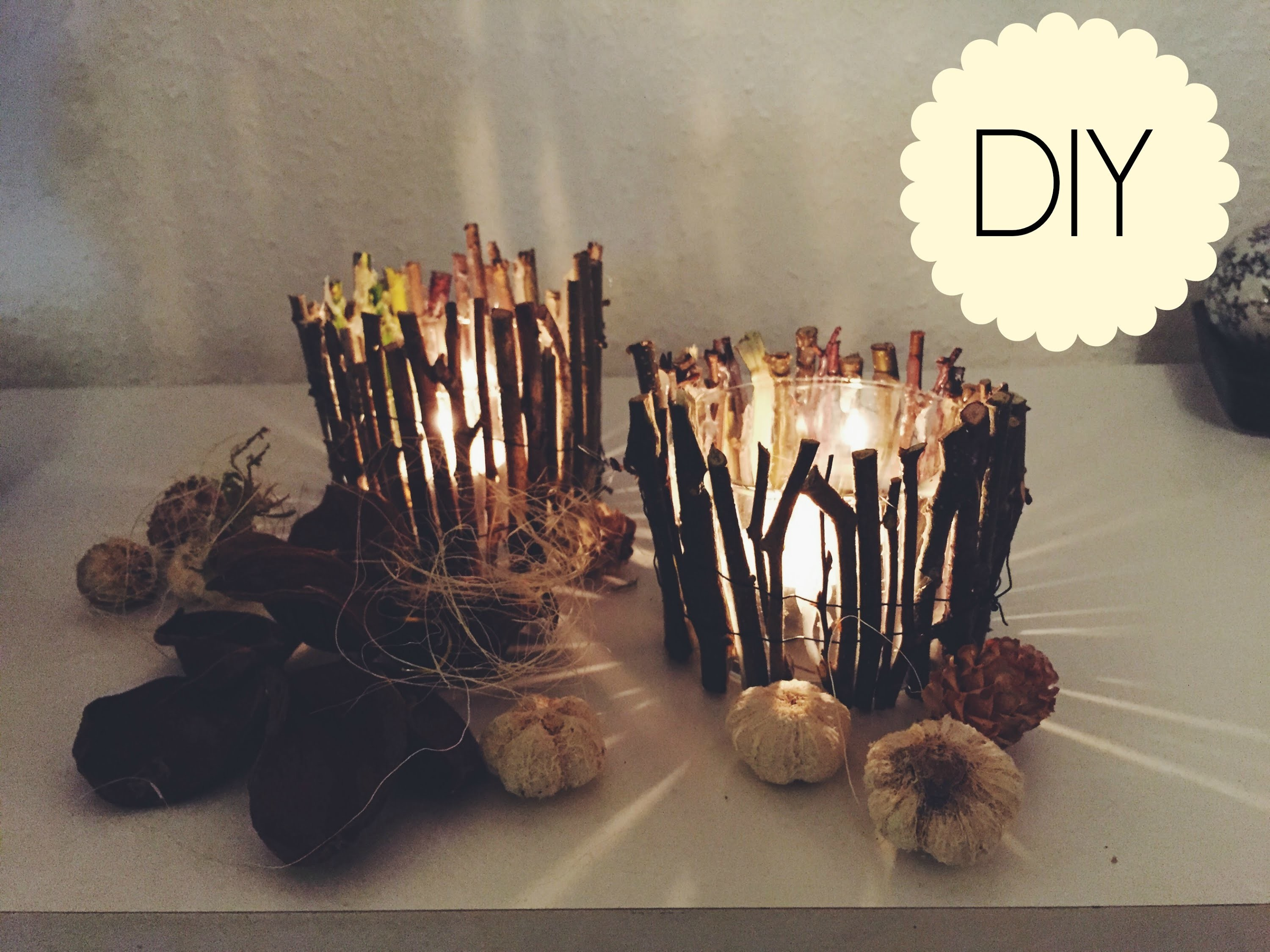 DIY: WOOD CANDLE HOLDERS