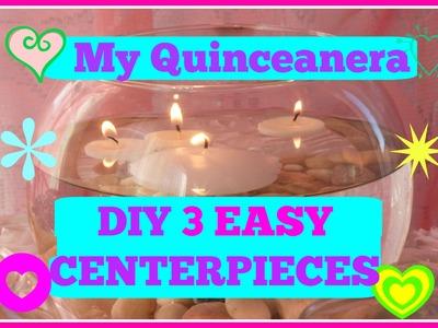 EASY 3 DIY Centerpieces  Quinceanera. Wedding
