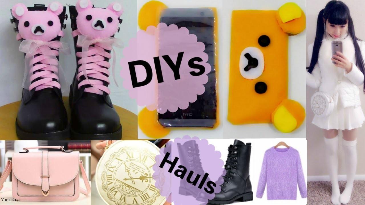 Fun Accessories DIYs: DIY Rilakkuma Lace Up Shoes+DIY Rilakkuma Easy Phone Case+Cheap Haul