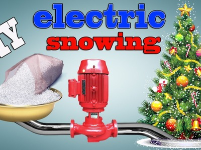 How To Make DIY electric snowing Christmas tree