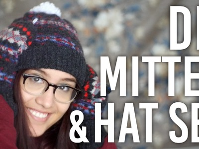 How To Make Mitten and Hat Set from an Old Sweater : DIY