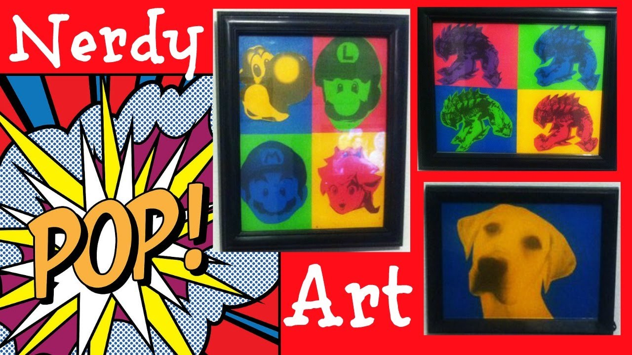 Nerdy Pop Art DIY (With Free Non-downloadable Photo Editor)
