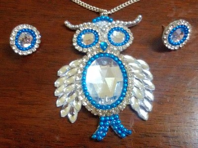 3. How to make Owl pendant and studs