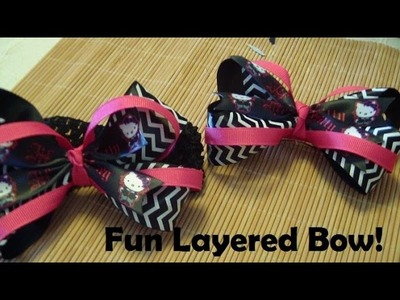 Bow How To: Fun Layered Bow (Boutique Bow on Headband)!