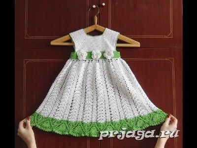 Crochet baby dress  How to crochet an easy shell stitch baby. girl's dress for beginners 84