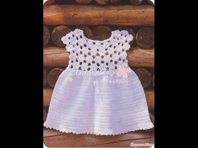 Crochet dress| How to crochet an easy shell stitch baby. girl's dress for beginners 64