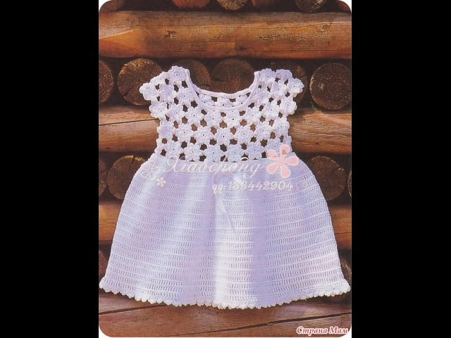 Crochet dress| How to crochet an easy shell stitch baby. girl's dress for beginners 64