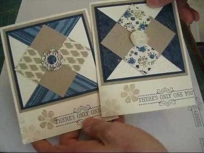 Diamond Quilt for cards frenchiestamps.com