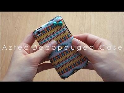 DIY Aztec Decopauged Case