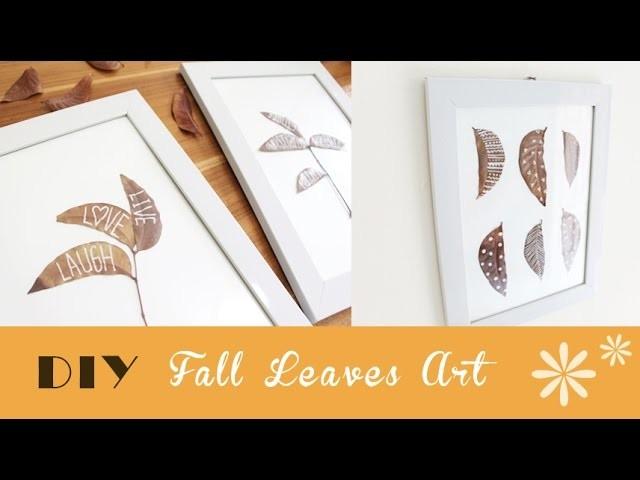 DIY FALL Leaves Art