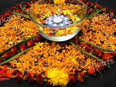 DIY Flower Rangoli 2  (Pookalam Designs)  - JK Arts 171