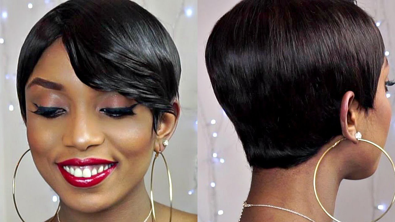 DIY - How To Make a Pixie. Short Sexy Wig With  Bangs From Start To Finish