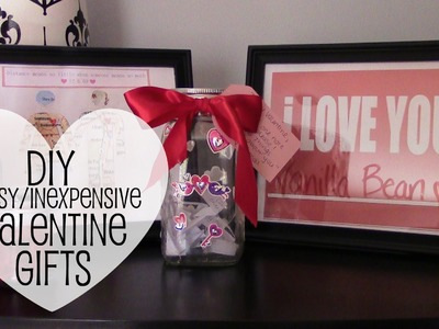DIY Last Minute | Easy | Inexpensive Valentine's Day Gifts