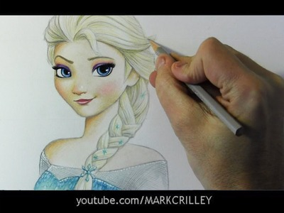 """Drawing Time Lapse: Elsa from """"Frozen"""""""