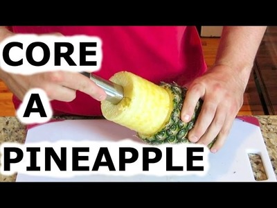 EASY SLICER HOW TO CORE A PINEAPPLE USING A FRUIT CORER DEHYRDATED SNACKS