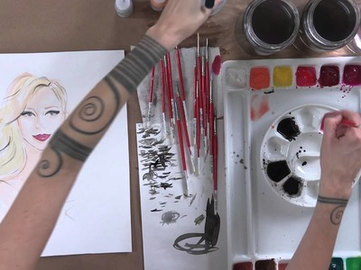 Fashion Illustration: How to Draw and Paint Faces