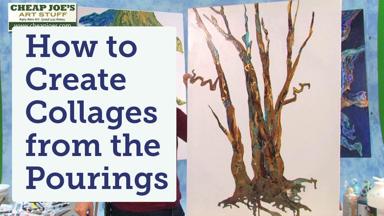 How to Create Collages from the Pourings with Debbie Arnold