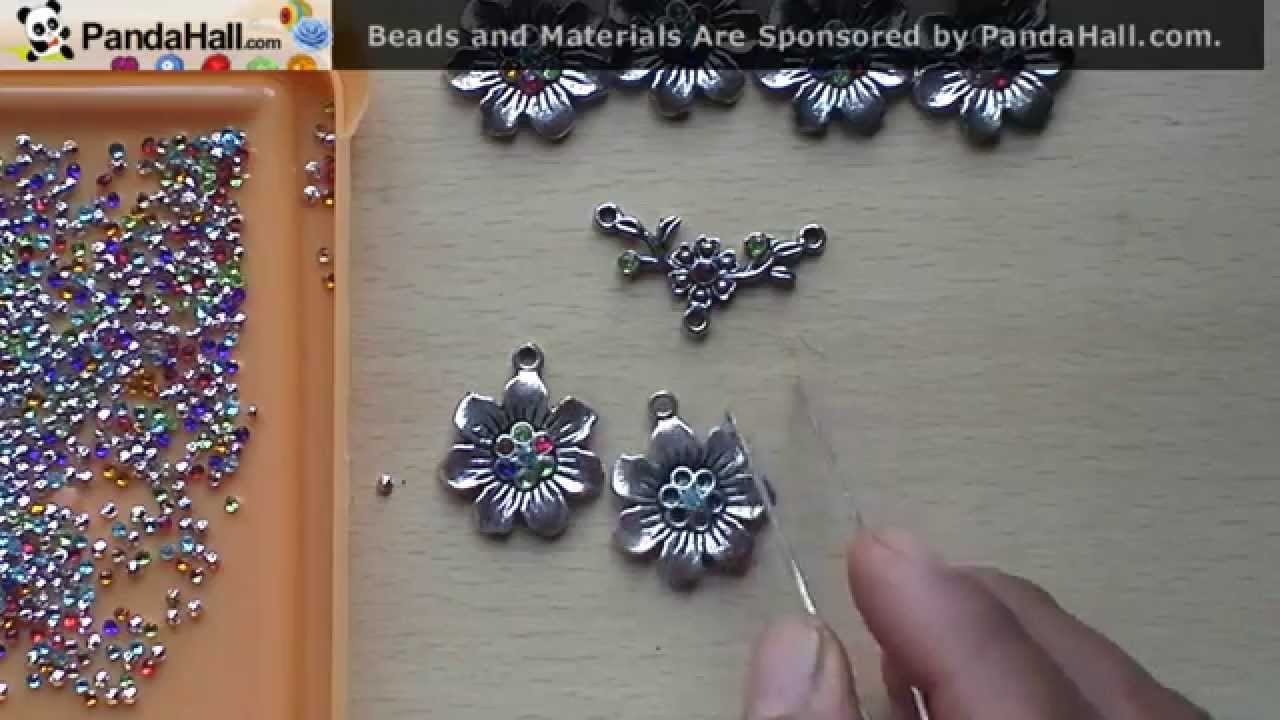 How to decorate the jewellery findings with rhine stones-panda hall