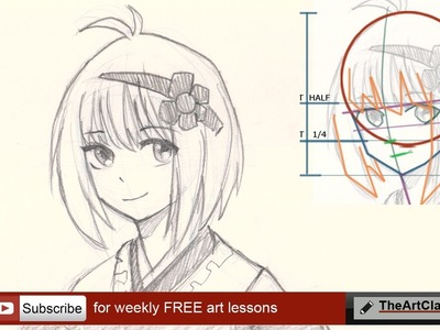 How to draw face Anime style girl part 4 of 5