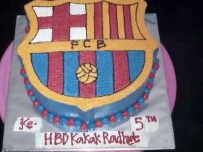 How to Easy Make Emblem FCB Cake