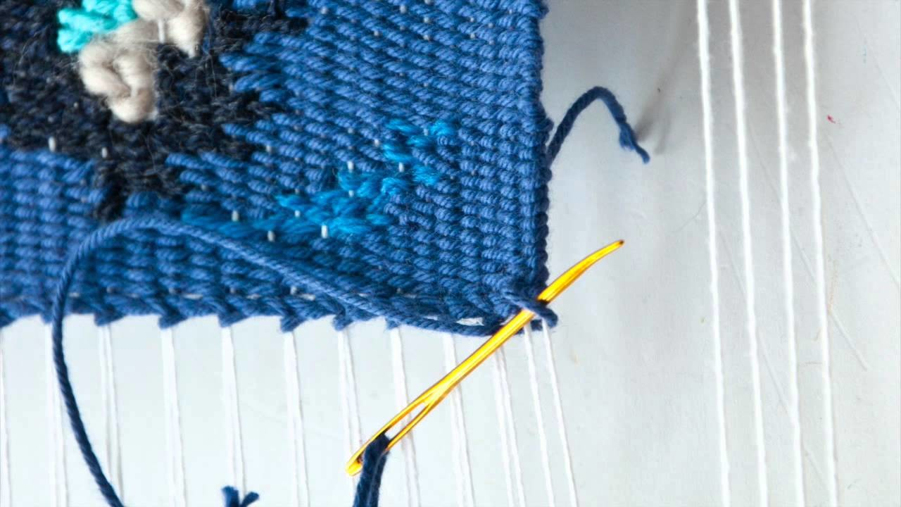 How to hem stitch your weave on a lap loom
