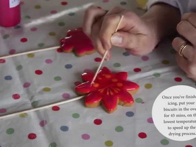 How to Ice a bouquet of Flower Biscuits using Royal Icing: A Biscuiteers tutorial