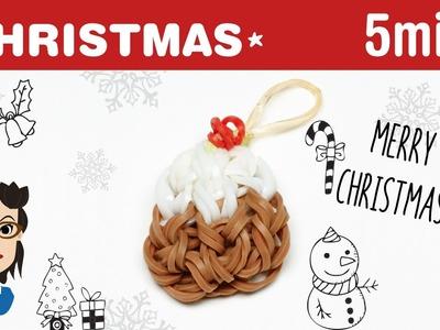 How to make a Christmas pudding loom charm