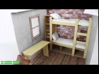 How to Make a Doll Dorm Room with Bunk Bed & Furniture