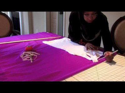How to make a Kaftan.Abaya