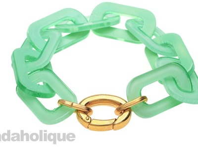 How to Make a Lucite Chain Bracelet