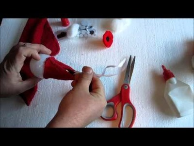 How to make a Santa decoration from an old lightbulb with Dave Zachary