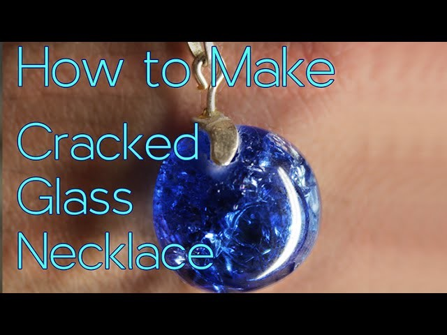 How to Make Cracked Glass Necklace | #Maker42