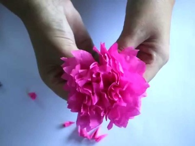 How to Make Crepe Paper Flowers!