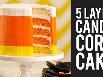 How to Make Halloween Candy Corn Cake