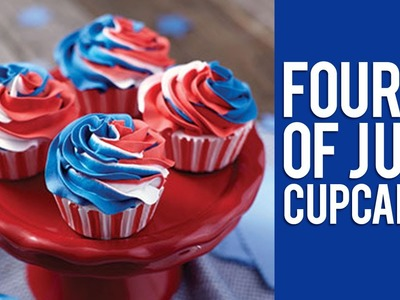 How to Make Red, White and Blue Swirl 4th of July Cupcakes