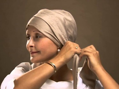 How to tie a designer chemo headscarf by Christine Headwear