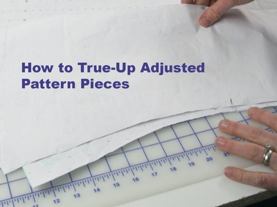J Stern Designs l Quick Tip:  How To True-Up Your Pattern Before You Cut