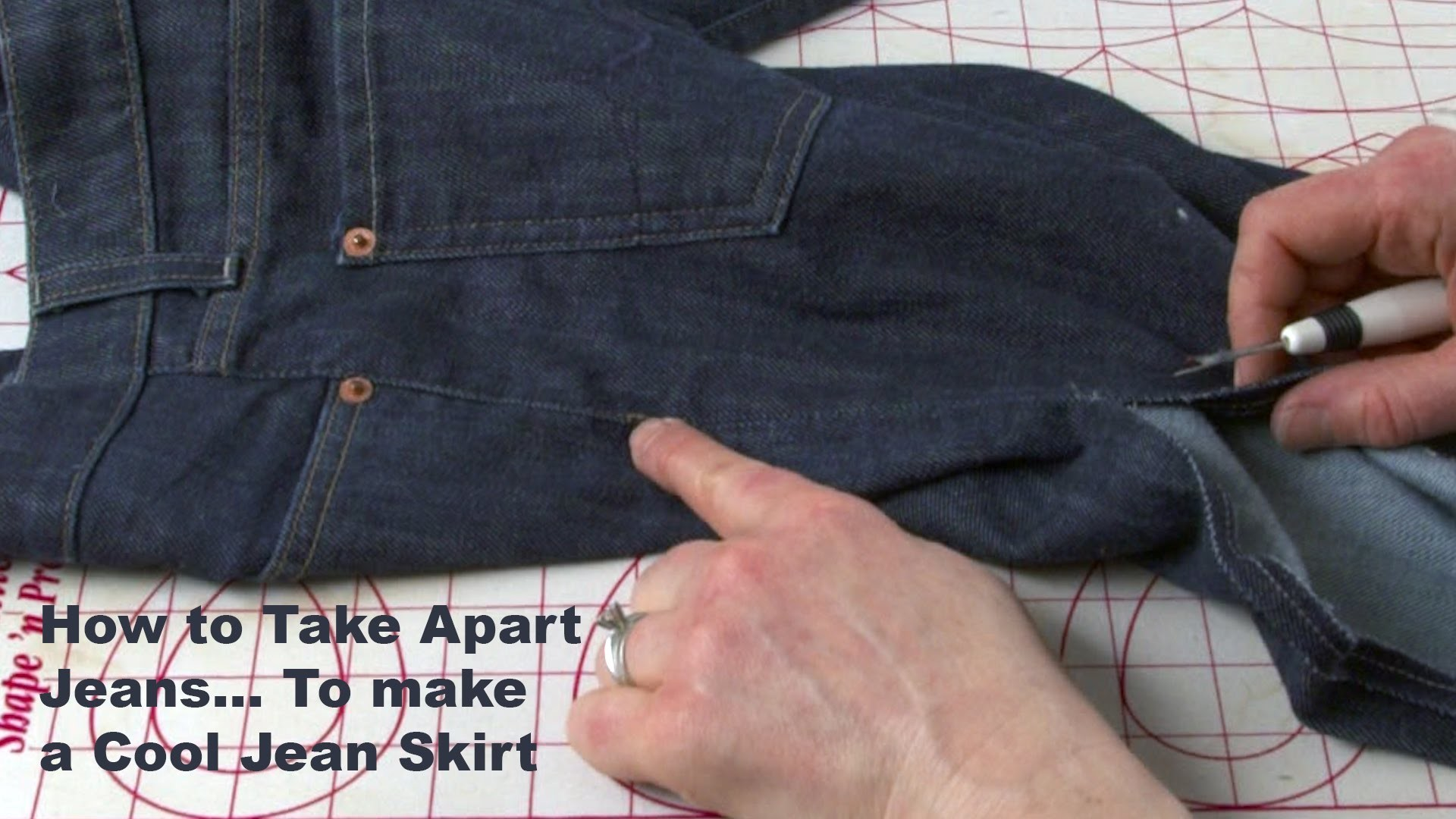 J Stern Designs l Quick Tip: How to Take Apart a Pair of Jeans . To Make a Jean Skirt