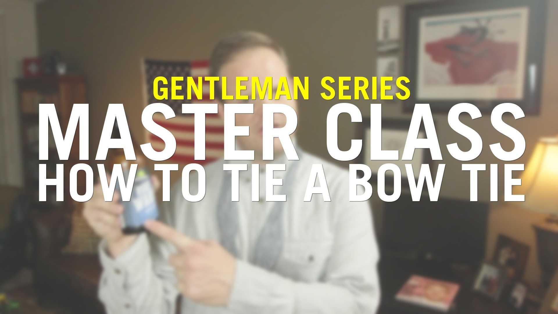 Master Class: How To Tie A Bow Tie
