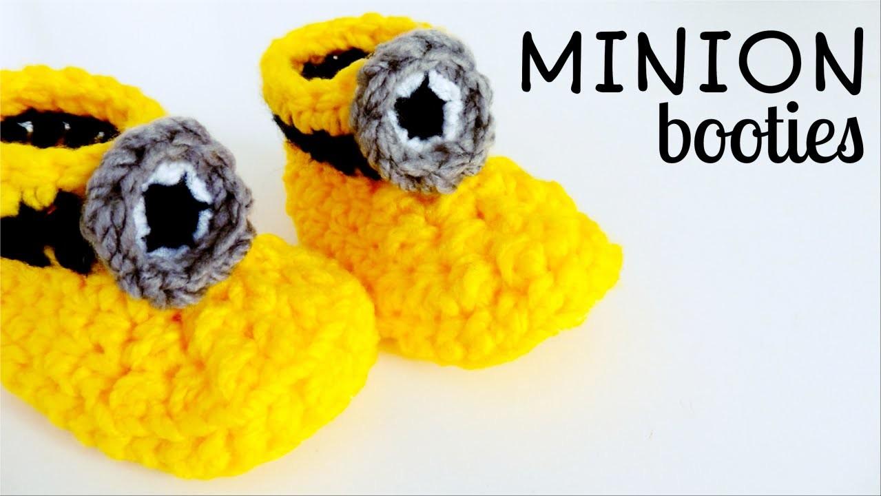 Minion Crochet Booties