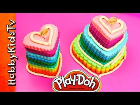 PLAY-DOH Heart Cakes Rainbow, Cookie Monster, Mrs. Potato Head