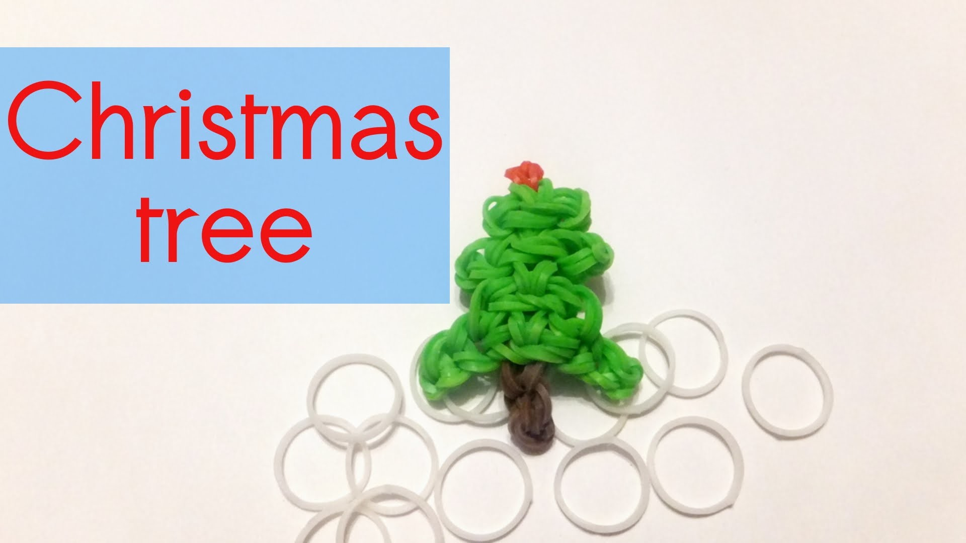 Rainbow Loom Christmas Tree Charm | Loom Bands How To