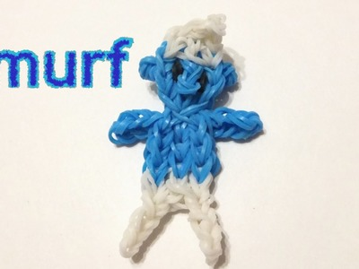Rainbow loom Smurf charm | Loom bands how to