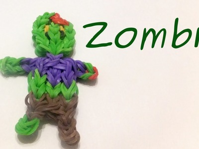 Rainbow Loom Zombie (HALLOWEEN) Charm | Loom Bands Tutorial | How To