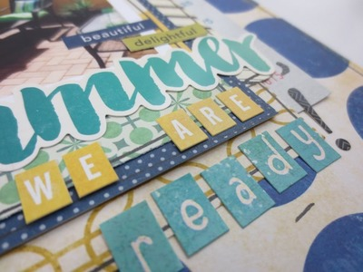 Scrapbook Layout Process Video